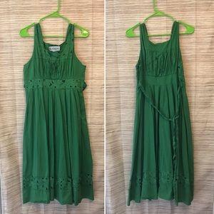 Stunning vintage green maxi dress - size 14